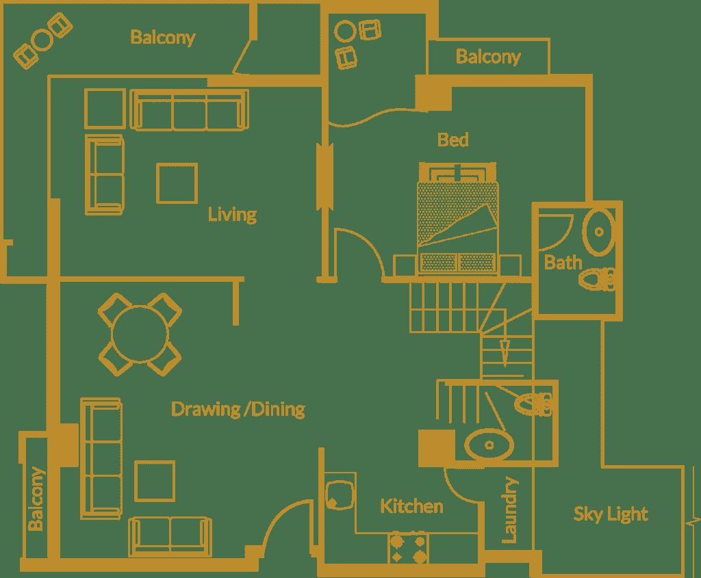 Zarkon Heights G-15 Islamabad Luxury Apartments Four Bedroom - Duplex Floor Plan - FAH33M (1)