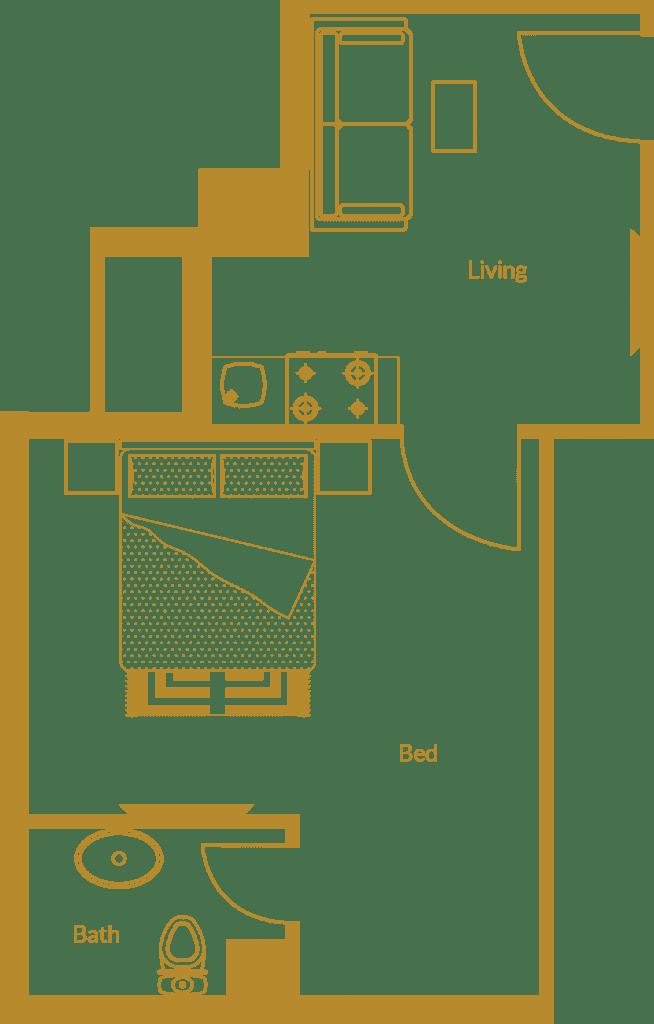 Zarkon Heights G-15 Islamabad Luxury Apartments One Bedroom - Floor Plan - FAH33M (2)