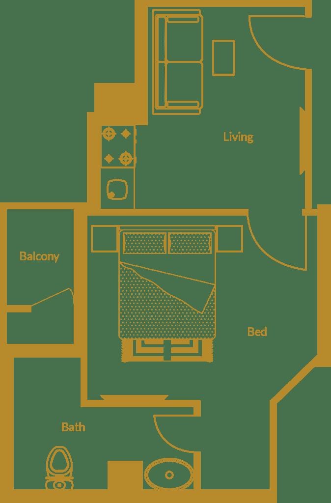 Zarkon Heights G-15 Islamabad Luxury Apartments One Bedroom - Floor Plan - FAH33M (3)