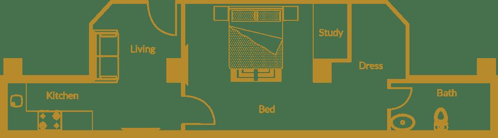 Zarkon Heights G-15 Islamabad Luxury Apartments One Bedroom - Floor Plan - FAH33M (4)