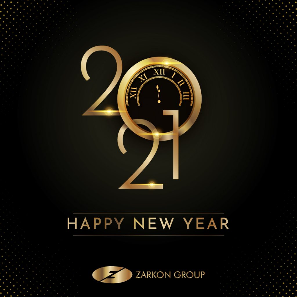 Happy New Year 2021 Zarkon Group Real Estate Developer & Property Builder Facebook English Post - FAH33M